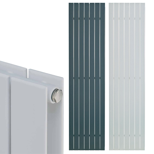 HAILWOOD Double Flat Panel Modern Vertical Radiator, Tall – Central Heating