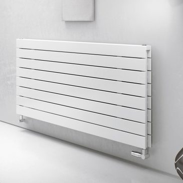 HAILWOOD Double Flat Panel Modern Horiztontal Radiator, Wide – Central Heating