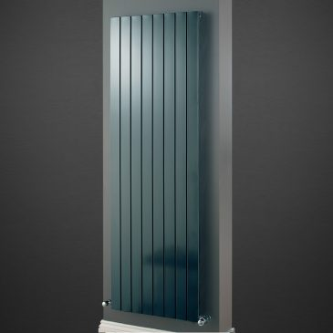 HAILWOOD Single Flat Panel Modern Vertical Radiator, Tall – Central Heating