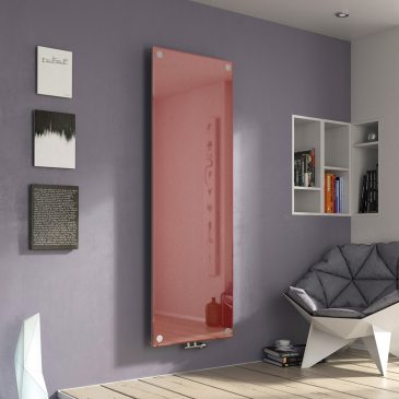 LEZAYRE GLASS Flat Panel Modern Vertical Radiator, Tall, White – Central Heating RED