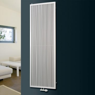 MANSFIELD Framed Round Tube Modern Designer Vertical Radiator, Tall – Central Heating