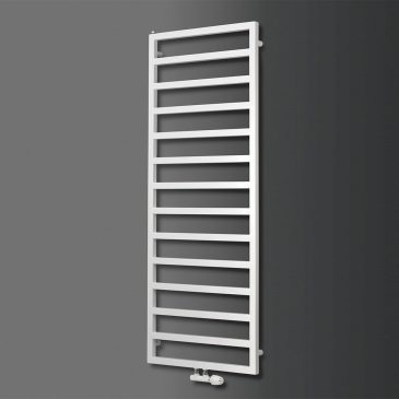 Paddock Square Tube Modern Heated Towel Rail / Warmer / Radiator, White