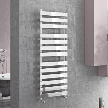 TOWER Flat Panel Modern Heated Towel Rail / Warmer / Radiator, Chrome