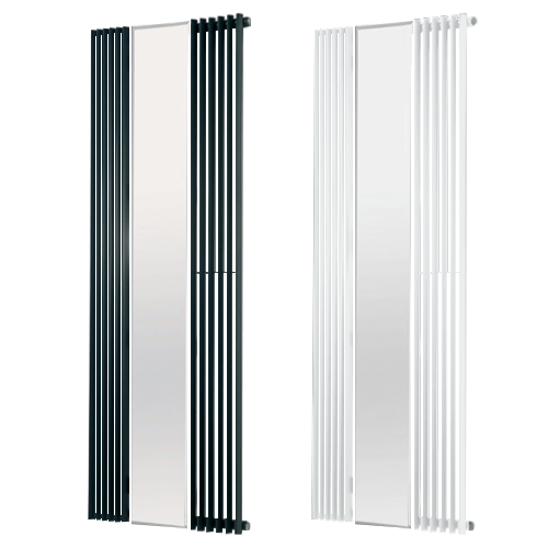 VALLEY MIRROR Radiator, Triangle Tube, Modern, Vertical , Tall – Central Heating