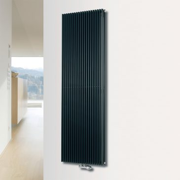 VALLEY DUO Triangle Tube Modern Vertical Designer Radiator, Tall – Central Heating
