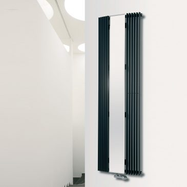 VALLEY MIRROR 1 Radiator, Triangle Tube, Modern, Vertical , Tall – Central Heating