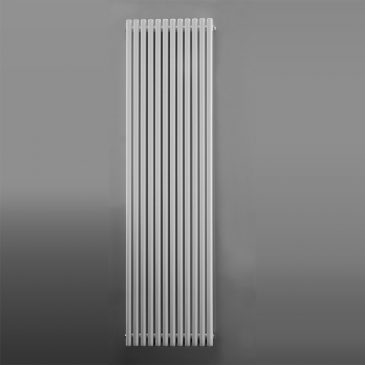 WESTFIELD Hollow Round Tube Modern Designer Vertical Radiator, Tall – Central Heating WHITE