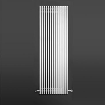 WESTFIELD Hollow Square Tube Modern Vertical Radiator, Tall – Central Heating WHITE