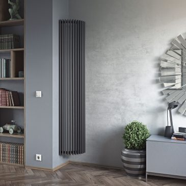 VALLEY CORNER Triangle Tube Modern Vertical Designer Radiator, Tall – Central Heating
