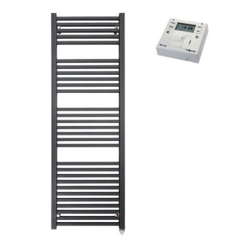 The Laurel Heated Towel Rail Electric Ptc With Fused Spur Timer
