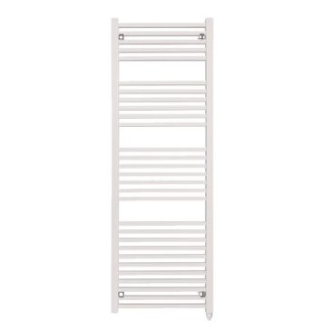 The Laurel White Square Tube Heated Towel Rail: Electric Ptc