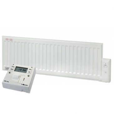 Adax Oil Filled Low Profile Skirting Electric Radiator With Fused Spur Timer