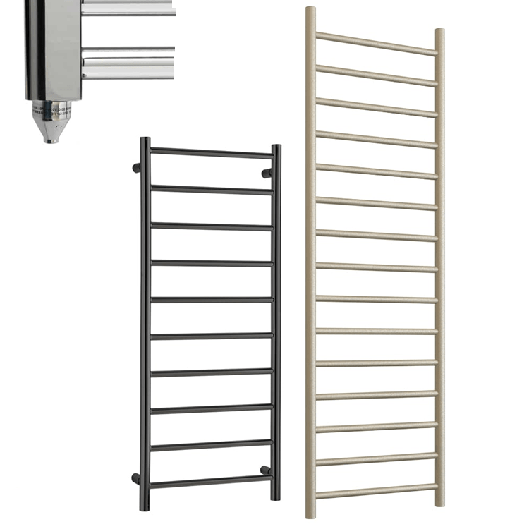 ALPINE ELEMENTS Modern Heated Towel Rail / Warmer – Electric