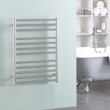 BRADDAN Stainless Steel Modern Heated Towel Rail / Warmer / Radiator – DUEL FUEL