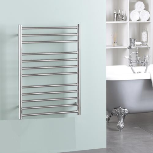BRADDAN Stainless Steel Modern Heated Towel Rail / Warmer / Radiator – ELECTRIC + Wireless Timer, Thermostat BUY ONLINE