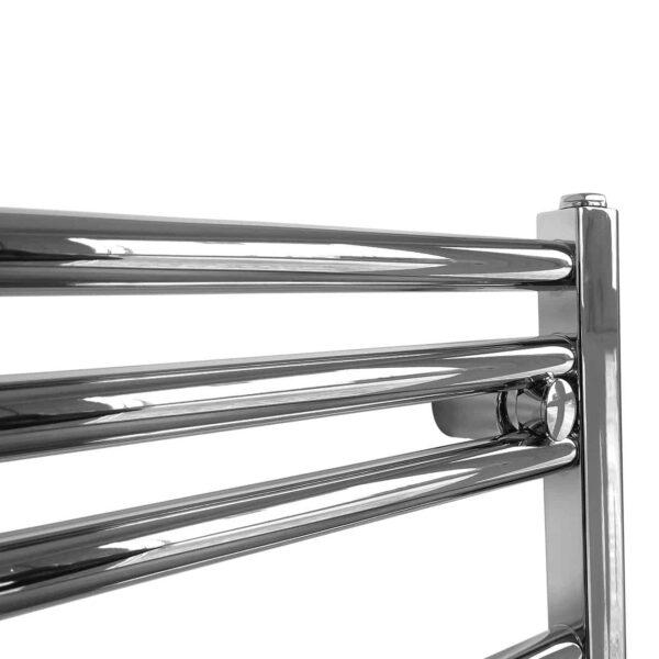 Straight Chrome Towel Rail Dual Fuel Thermostatic The Bray
