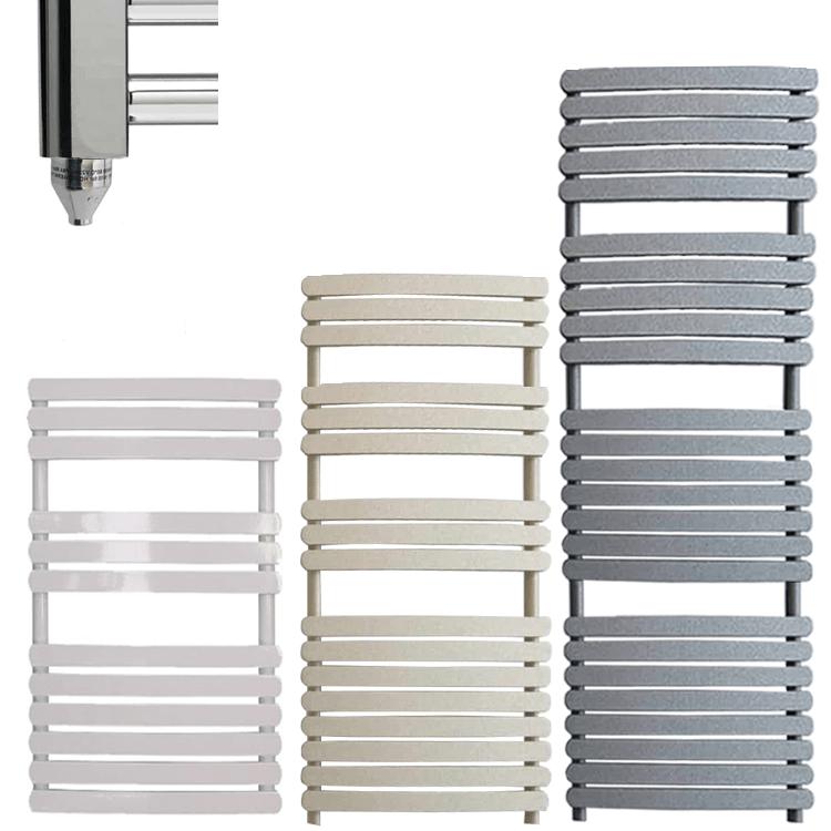 GREEBA ELEMENTS Flat Panel Modern Heated Towel Rail / Warmer – Electric