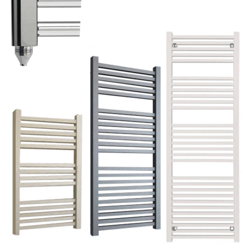 LAUREL ELEMENTS Square Tube Modern Heated Towel Rail / Warmer - Electric