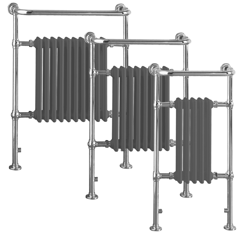 RAMSEY ELEMENTS Traditional Victorian Heated Towel Rail / Radiator – Central Heating