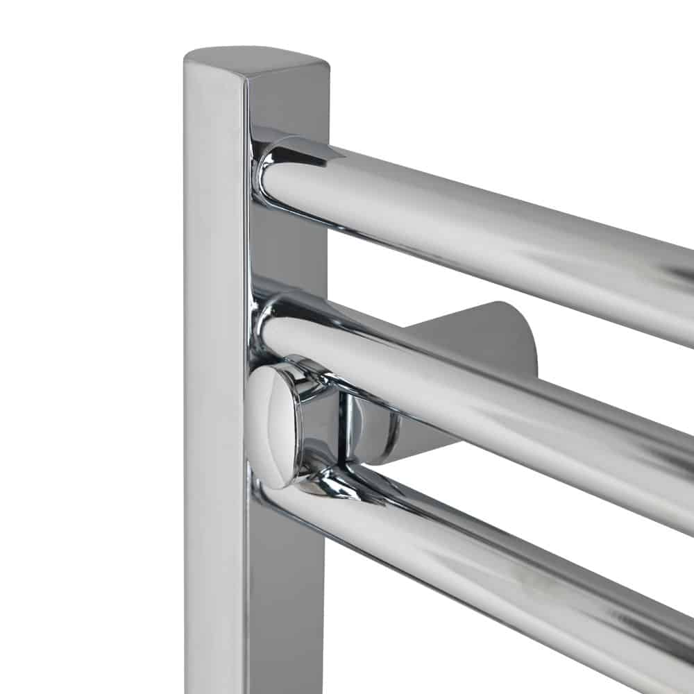 Electric Heated Towel Rail: TRADESMAN Straight Chrome Heated Towel Rail / Warmer