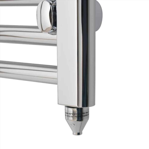 TRADESMAN Straight Chrome Budget Heated Towel Rail / Warmer / Radiator, Chrome – Closeup