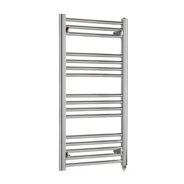Deluxe Straight Chrome Thermostatic / Electric Towel Rail