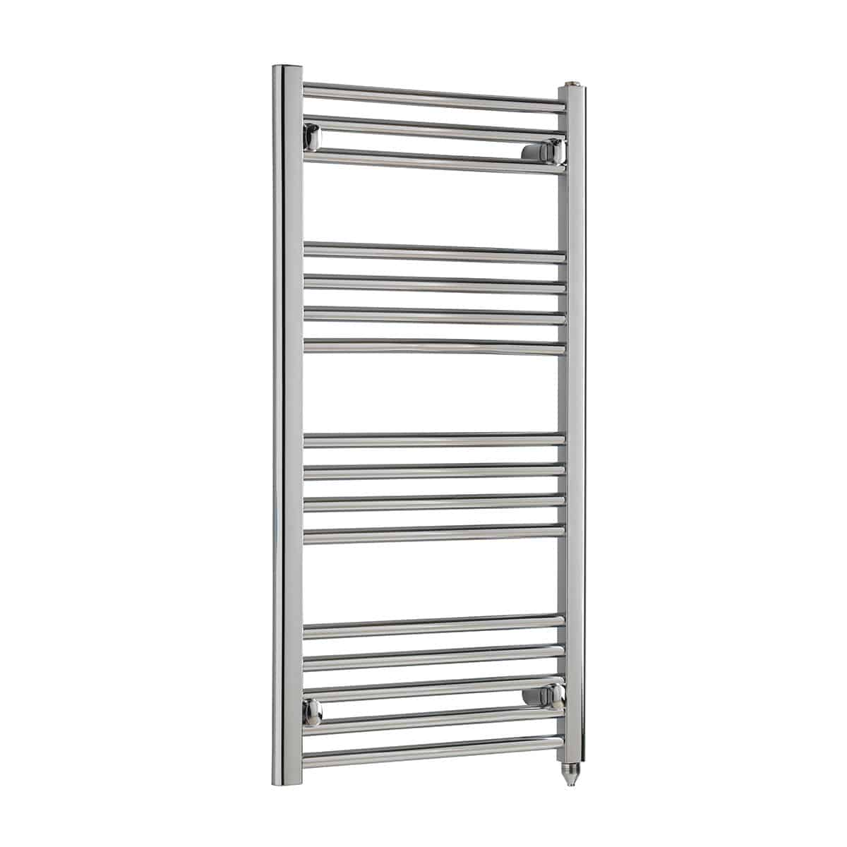 thermostatic electric heated towel rail straight chrome. Black Bedroom Furniture Sets. Home Design Ideas