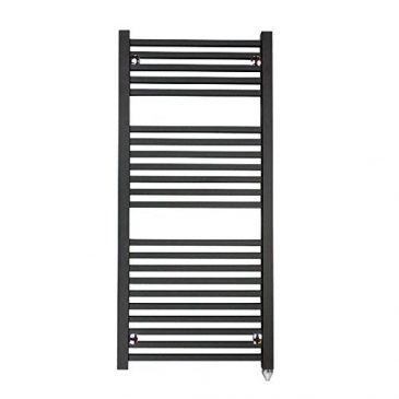 The Laurel Black Square Tube Heated Towel Rail: Central Heating Towel Rail