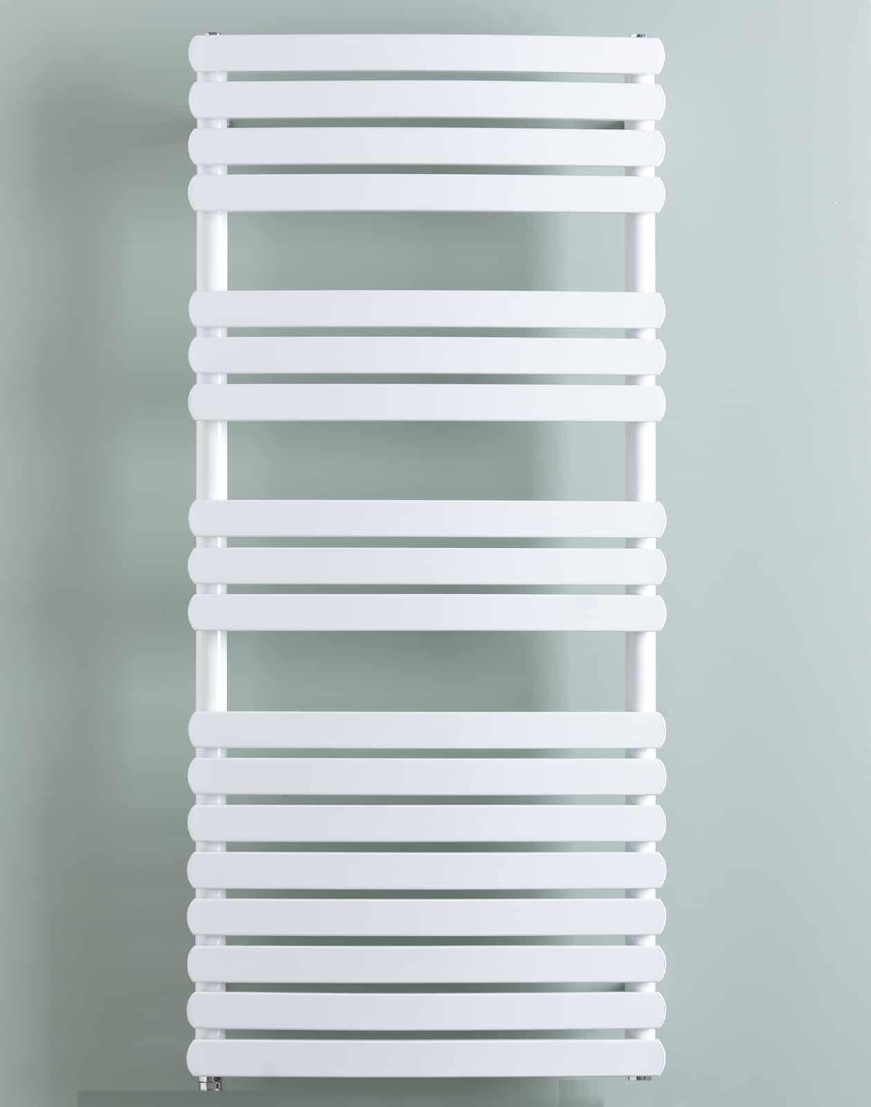 Greeba flat tube heated towel rail warmer chrome dual - Electric bathroom radiators with timer ...