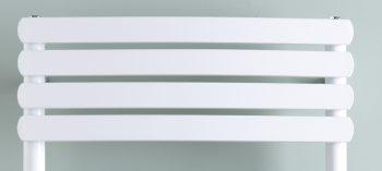 The Greeba White Designer Heated Towel Rail: Electric Ptc