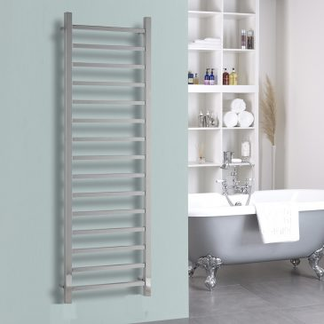 The Ballaugh Square Chrome Central Heating Towel Rail