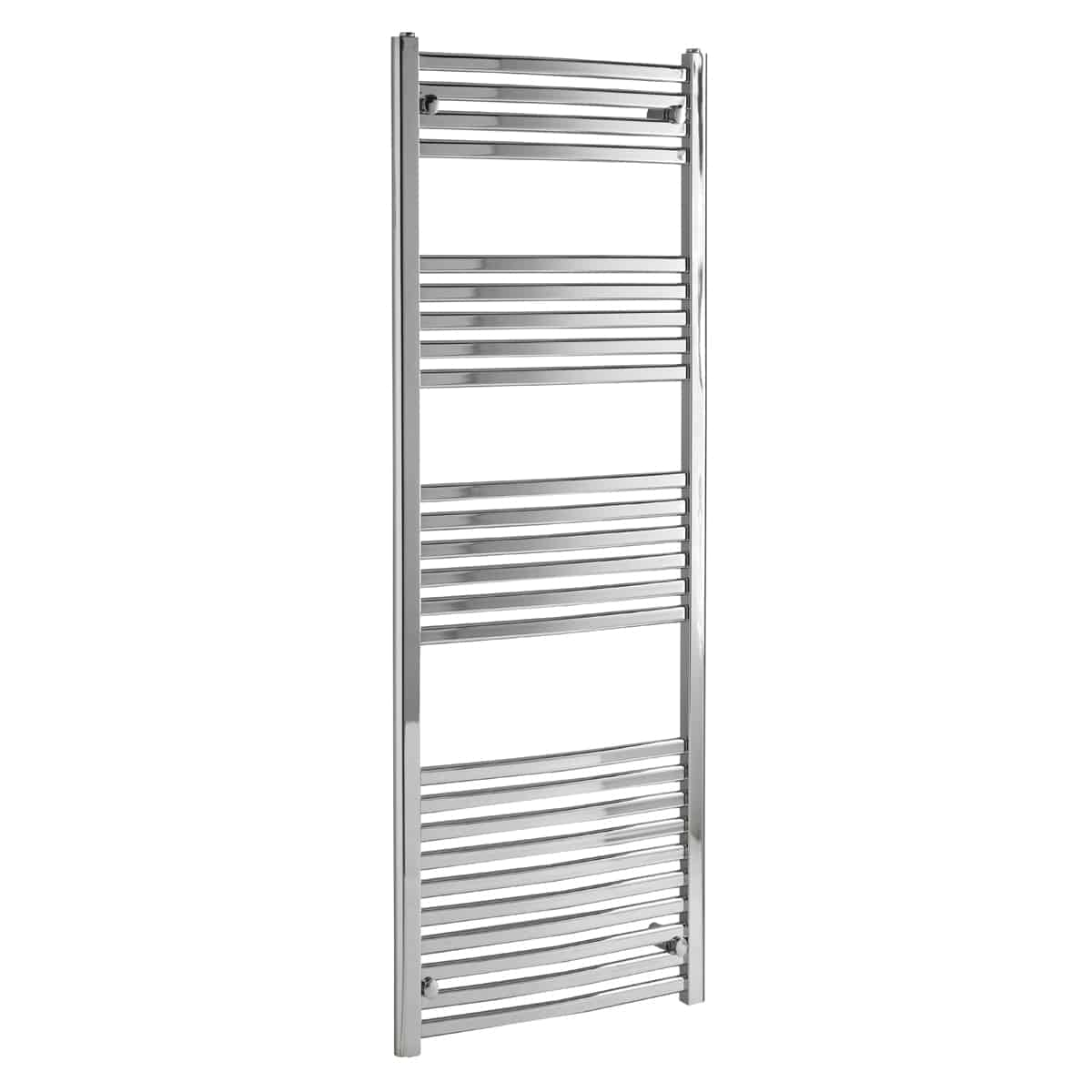 Alpine Modern Heated Towel Rail Warmer Chrome: CROSBY Flat Tube Modern Heated Towel Rail / Warmer