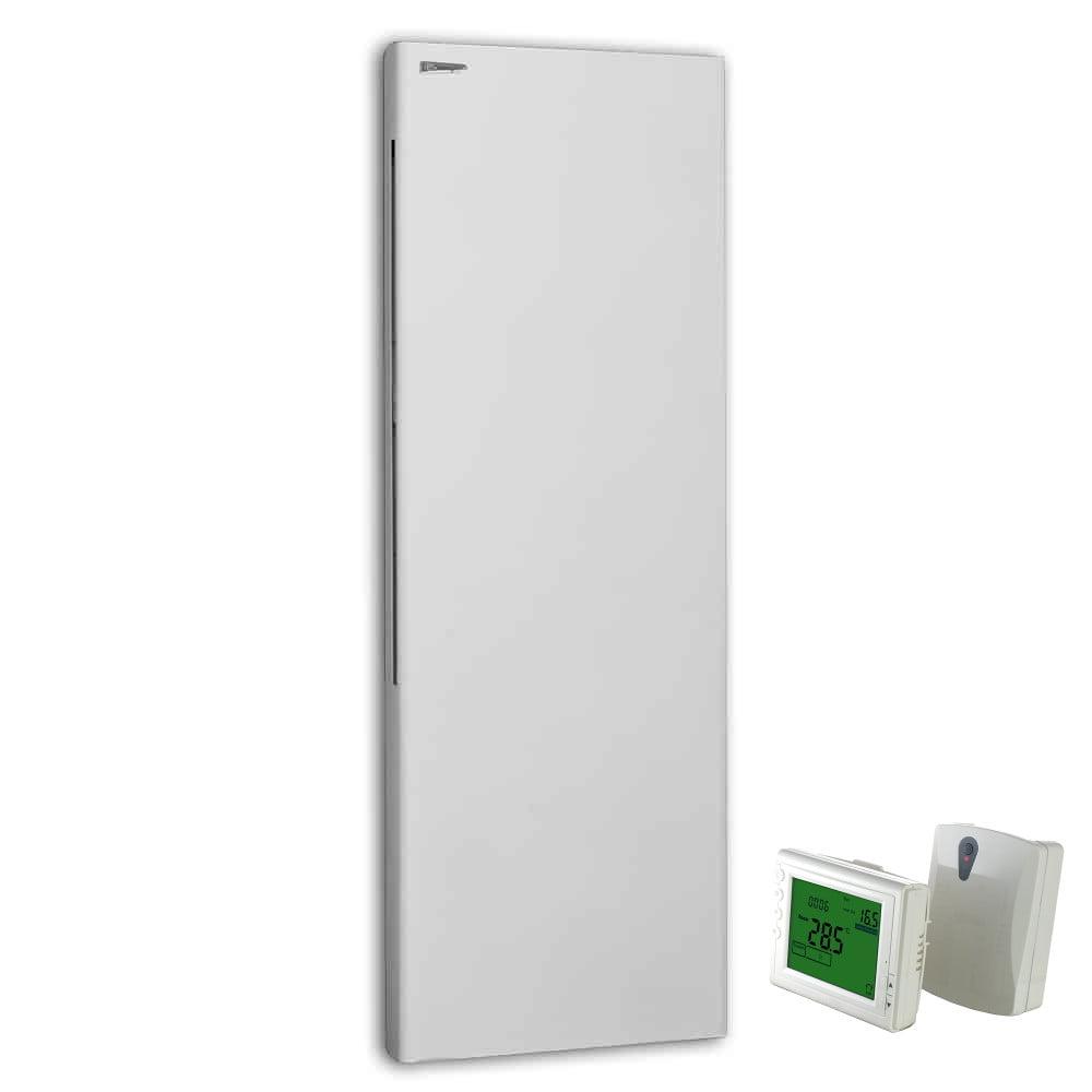 DEKO Vertical Modern Electric Wall Heater / Splash Proof Infrared + Wireless Timer