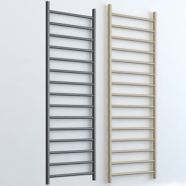 Alpine ELEMENTS Electric Thermostatic R2 Towel Rail Radiator White/ LAVA/BEACH
