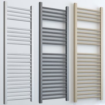 Bray ELEMENTS Dual Fuel Towel Rail White/LAVA/BEACH