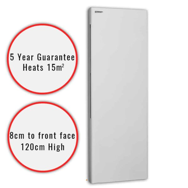 DEKO Vertical Modern Electric Wall Heater / Splash Proof Infrared Convector Radiator, Wall Mounted 1