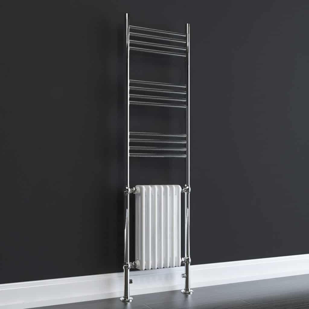 Duke Elements Traditional Victorian Heated Towel Rail Column Radiator Dual Fuel