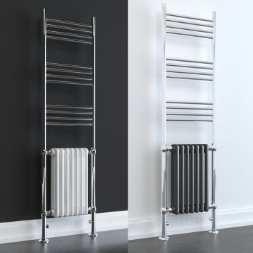 Duke ELEMENTS Towel Rail Traditional Radiator Hybrid Central Heated WHITE / LAVA