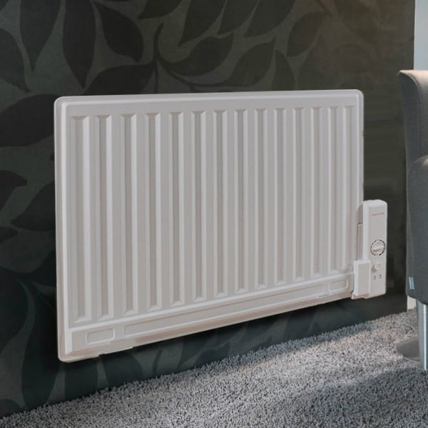 "Sol*Aire ""Celsius"" Slim Oil-Filled Electric Radiator / Radiant Wall Mounted and Portable Heater + Thermostat"