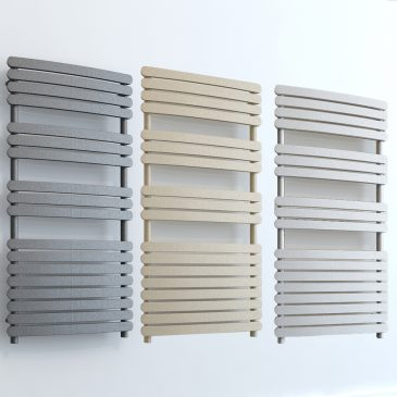 Greeba ELEMENTS Flat Towel Rail Central Heating White/LAVA/BEACH