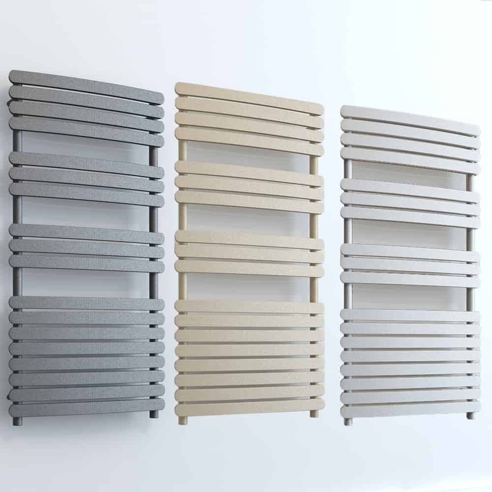 Greeba ELEMENTS Flat Towel Rail Central Heating White/LAVA/BEACH