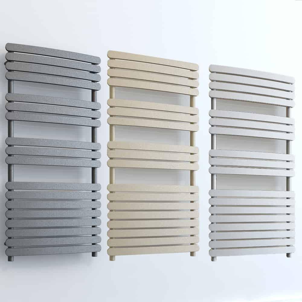 Electric Heated Towel Rail: GREEBA ELEMENTS Flat Panel Heated Towel Rail / Warmer