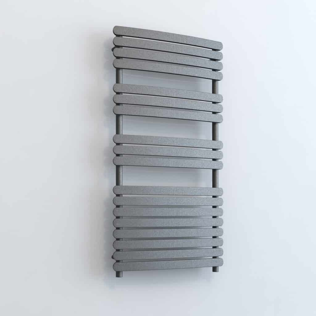 Greeba Chrome Heated Towel Rail: GREEBA ELEMENTS Flat Panel Modern Heated Towel Rail