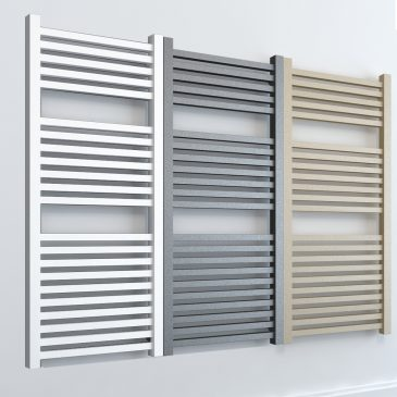 Laurel ELEMENTS Square Towel Rail Central Heating White/LAVA/BEACH
