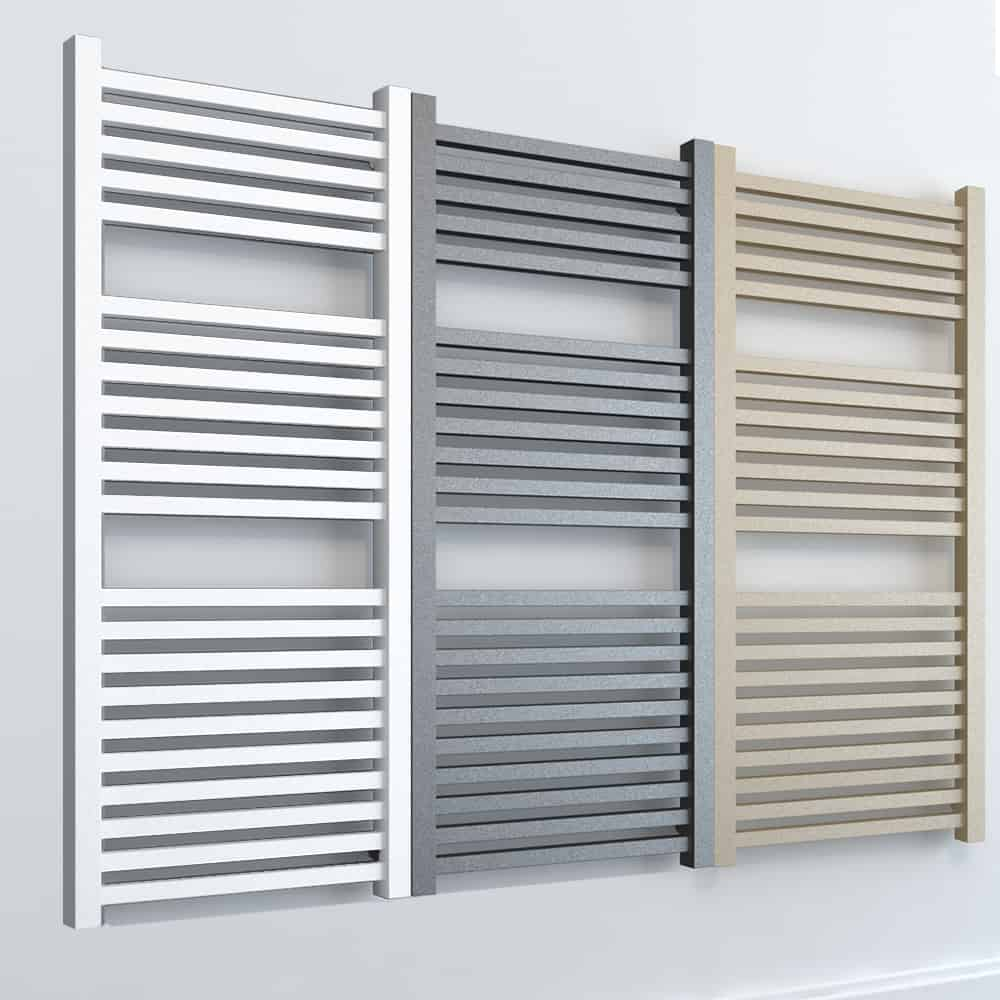 Laurel ELEMENTS Square Dual Fuel Towel Rail White/LAVA/BEACH