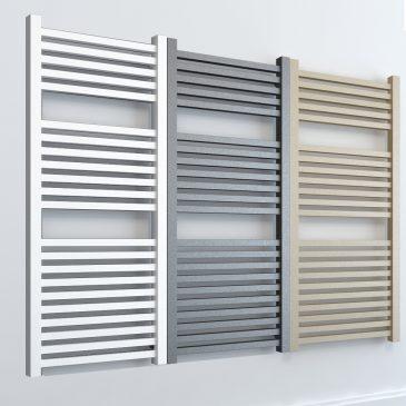 Laurel ELEMENTS Square Dual Fuel Thermostatic R2 Towel Rail White/LAVA/BEACH
