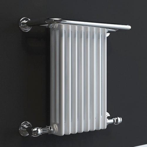 Traditional Heated Towel Rail Column Radiator White: Traditional Victorian Heated Towel