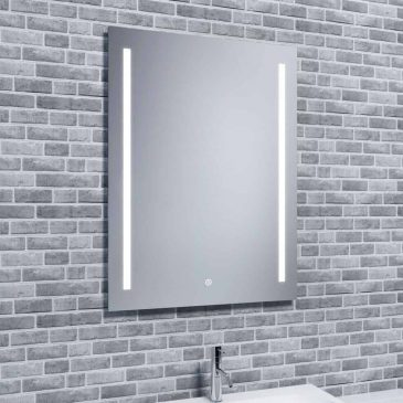 Reflections JURA, Contemporary Illuminated LED Mirror with Demister and Shaver Socket