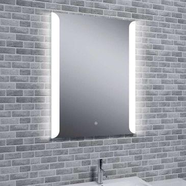Reflections SKYE Audio, Stylish Illuminated LED Wall Mirror / Touch Sensor, Speaker and Demister