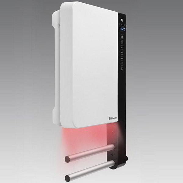 Radialight Windy, Wall Mounted Bathroom Fan Heater with Towel Rail, 1800W